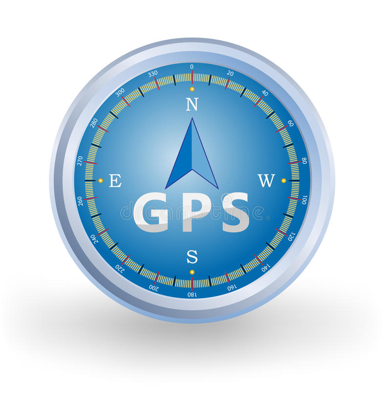 GPS Kompas stock illustratie