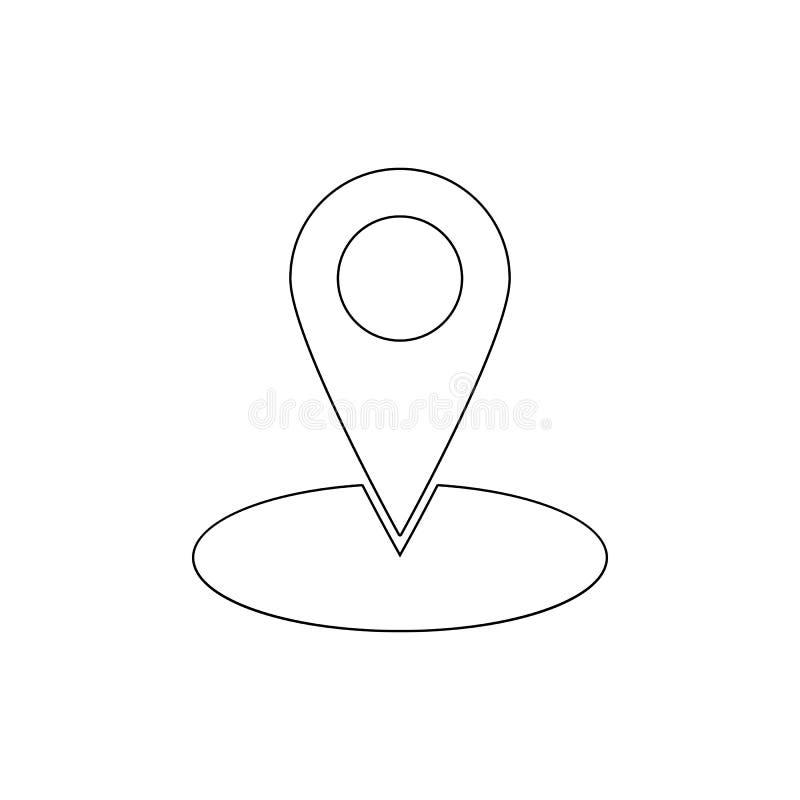 Gps lokacji mapy markiera nawigacji szpilki konturu ikona Znaki i symbole mog? u?ywa? dla sieci, logo, mobilny app, UI, UX royalty ilustracja