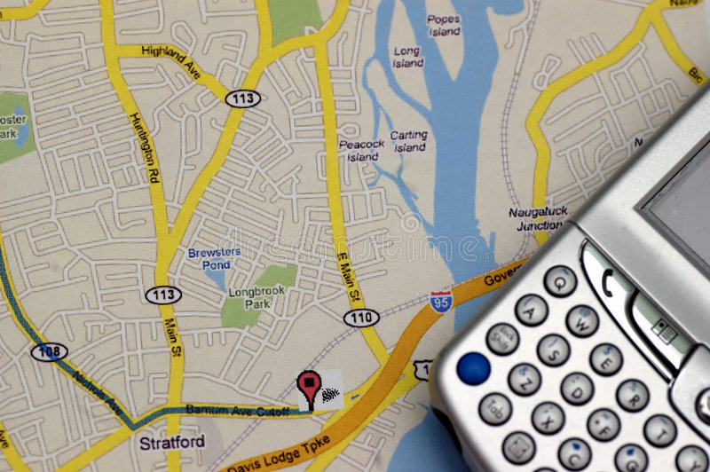 GPS and MAP royalty free stock photos