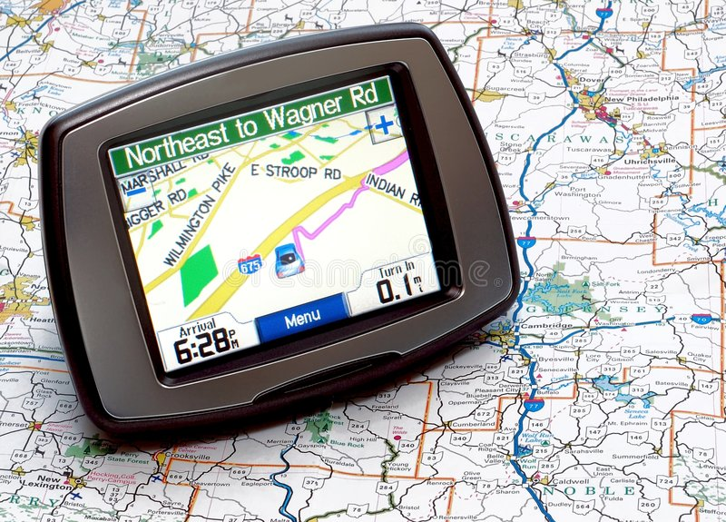 GPS or Map stock image