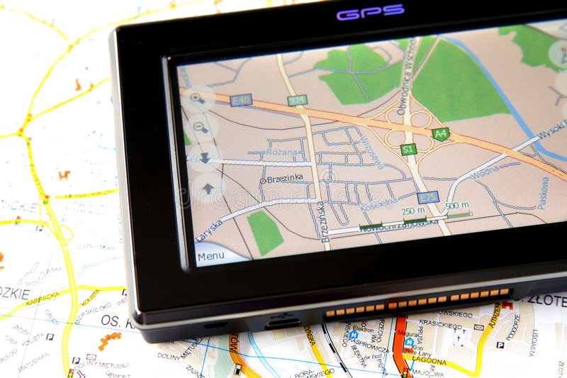 Download GPS and map stock image. Image of device, journey, global - 4087643