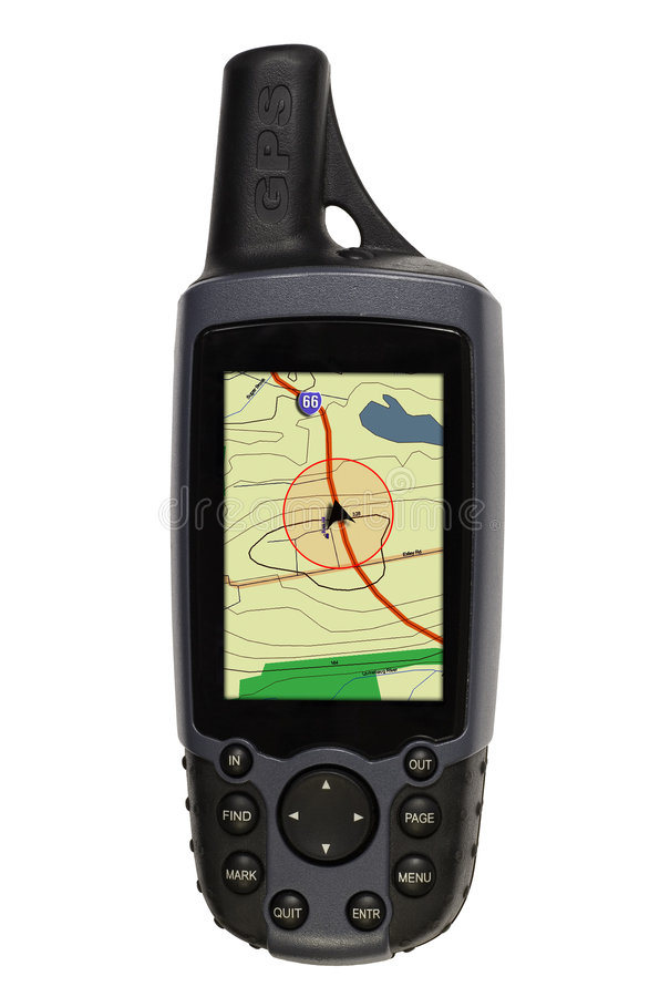 Download GPS with Map on White stock image. Image of point, gadget - 1436593
