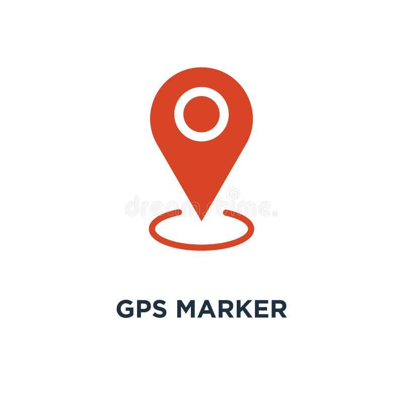 Gps marker icon. map pin orange concept symbol design, vector il. Lustration vector illustration