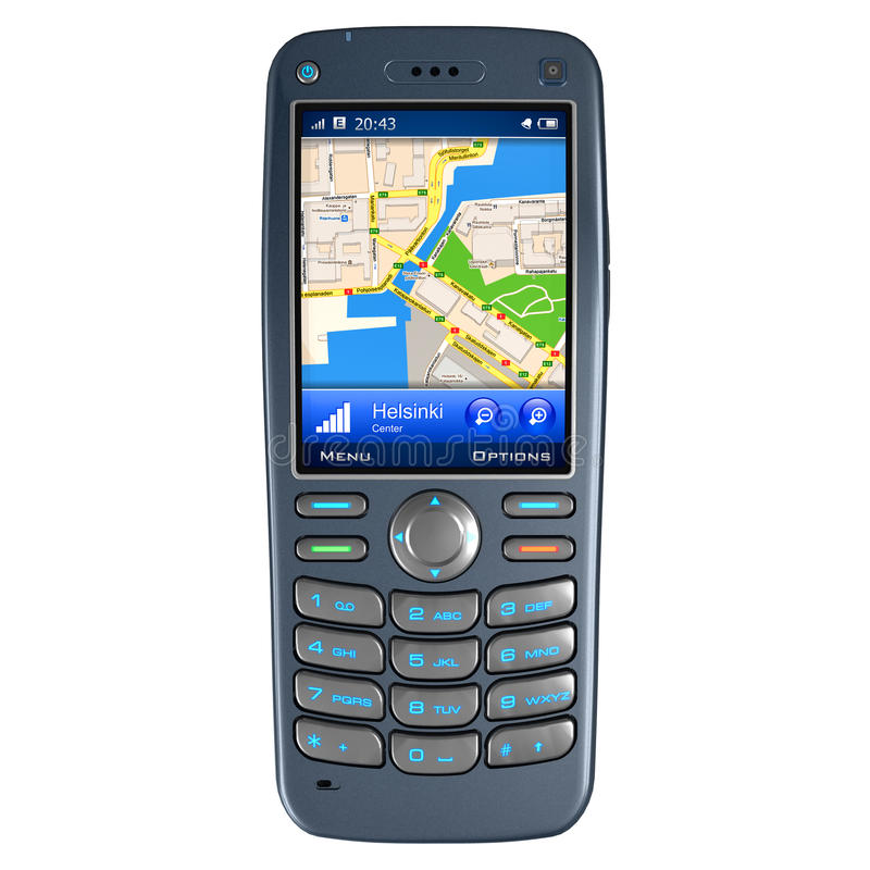 gps mobilny nawigaci telefon royalty ilustracja