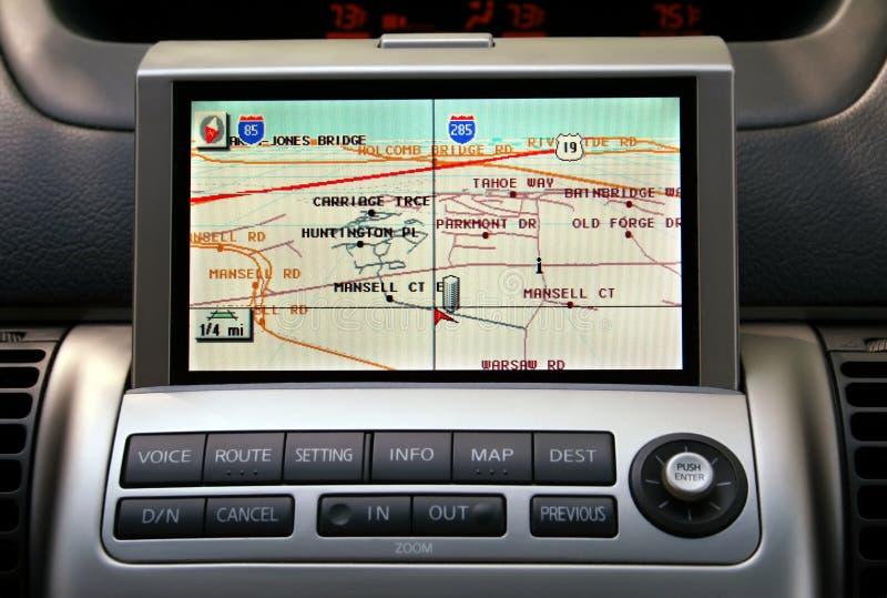gps naviagion samochodowy obraz royalty free