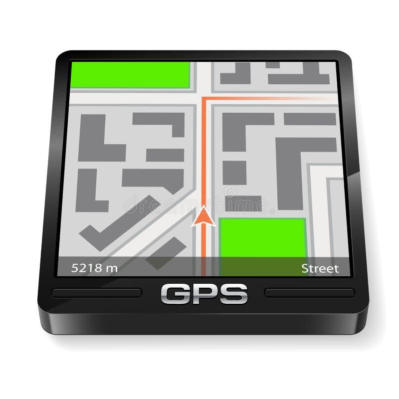 gps-navigatör stock illustrationer
