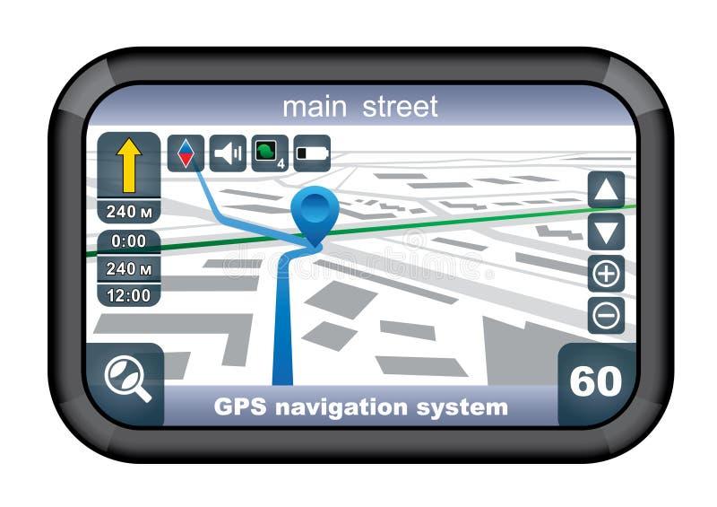GPS navigatör. vektor illustrationer