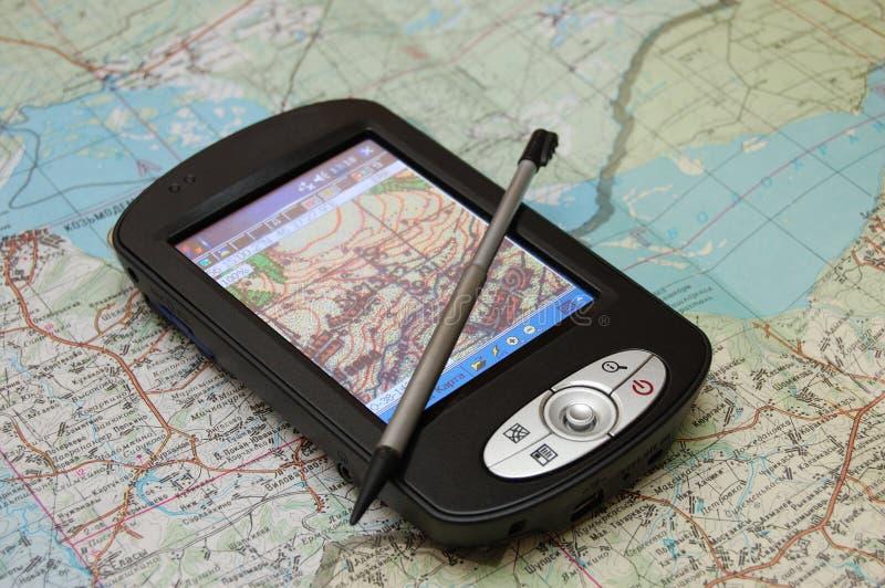gps-navigatör arkivfoto