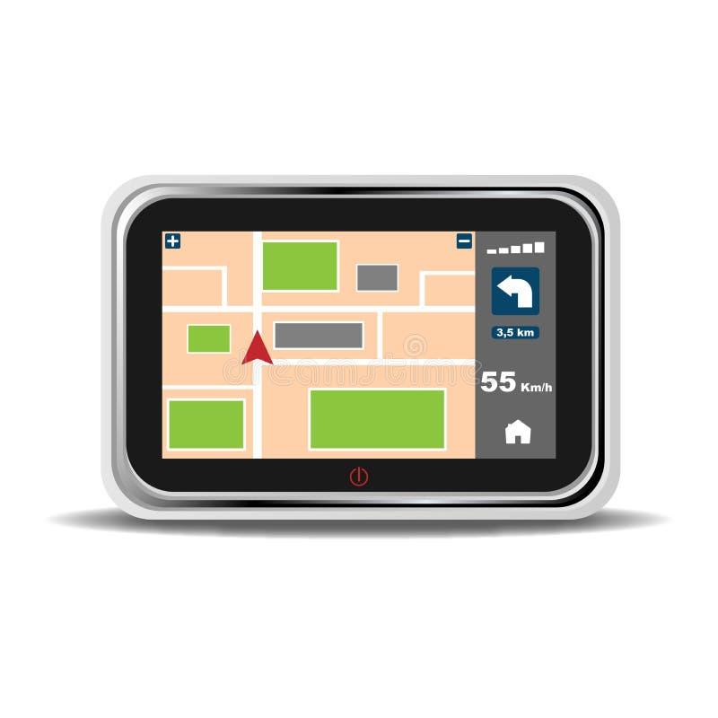 Gps navigatieapparaat royalty-vrije illustratie