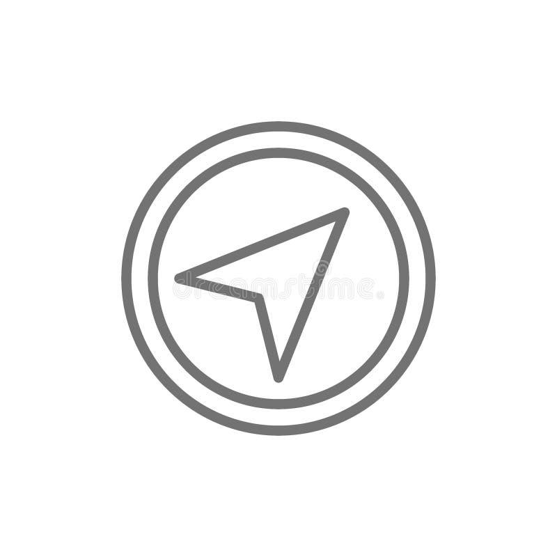 Gps navigation, compass, location line icon. royalty free illustration