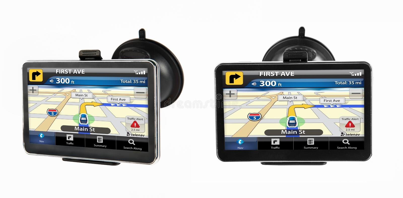 GPS Navigation Device Royalty Free Stock Images