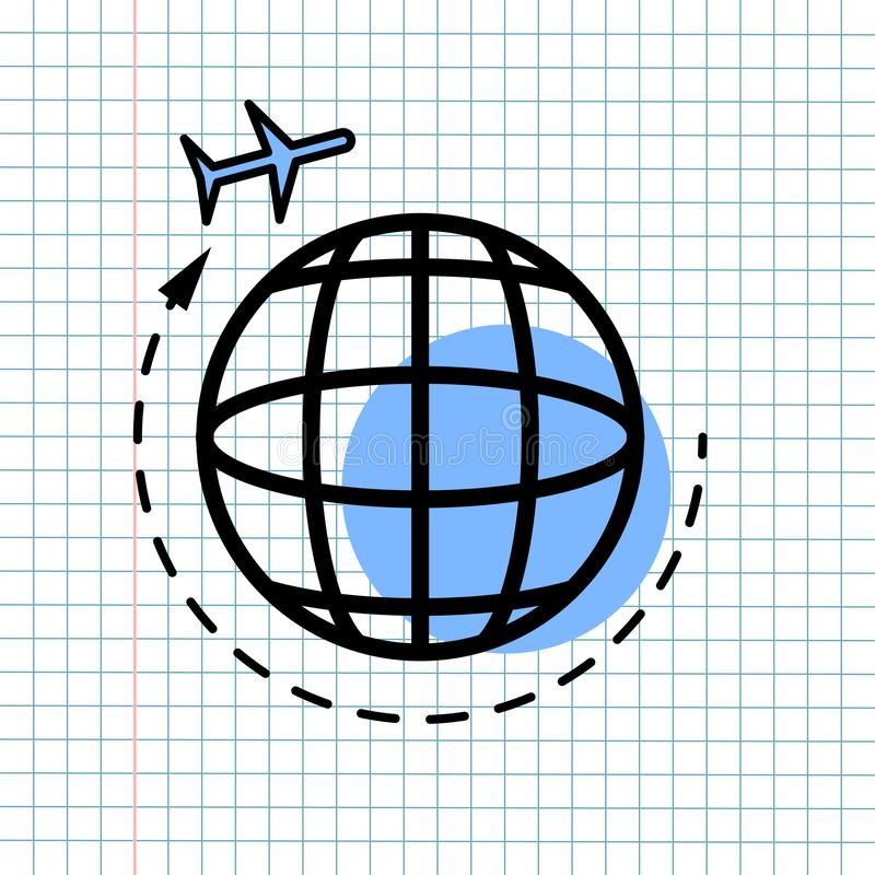 GPS Navigation Icon Sign Concept, Vector Graphic Design of Direction Navigator Symbol for Travel Destination., Traffic Label and royalty free stock photography
