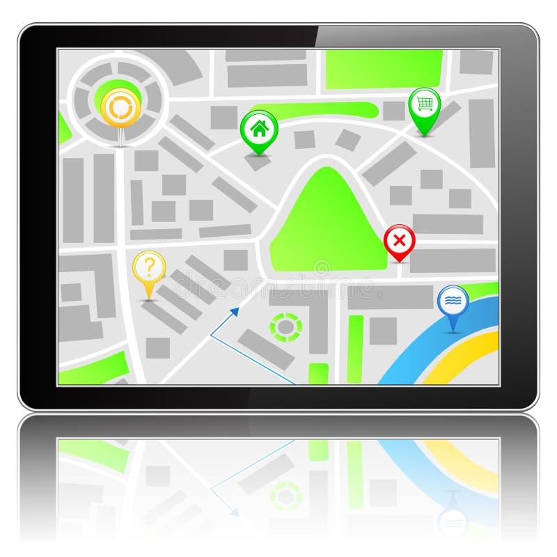 GPS Navigation System. Illustration of GPS Navigation System royalty free illustration