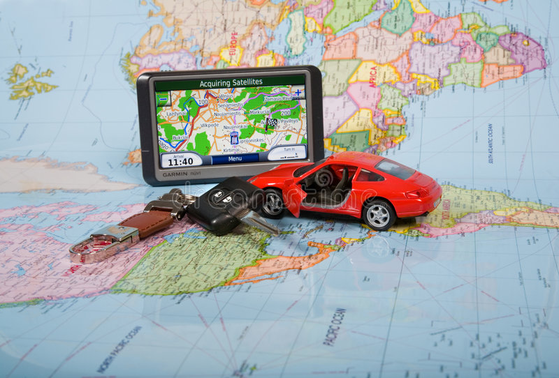 GPS Navigation System Royalty Free Stock Images