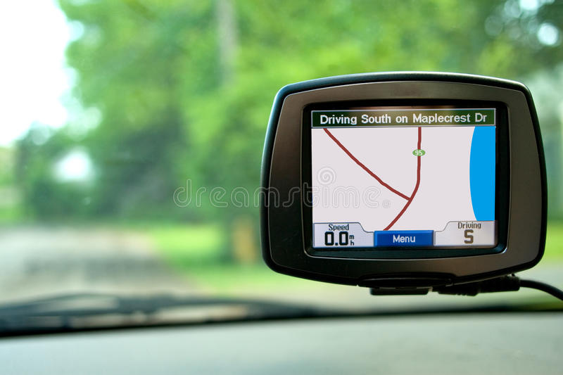 GPS Navigation in Travelling Car royalty free stock photo