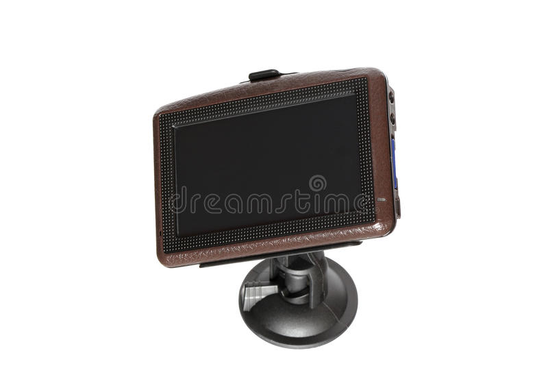GPS Navigator. Isolated on white background with clipping path royalty free stock photography