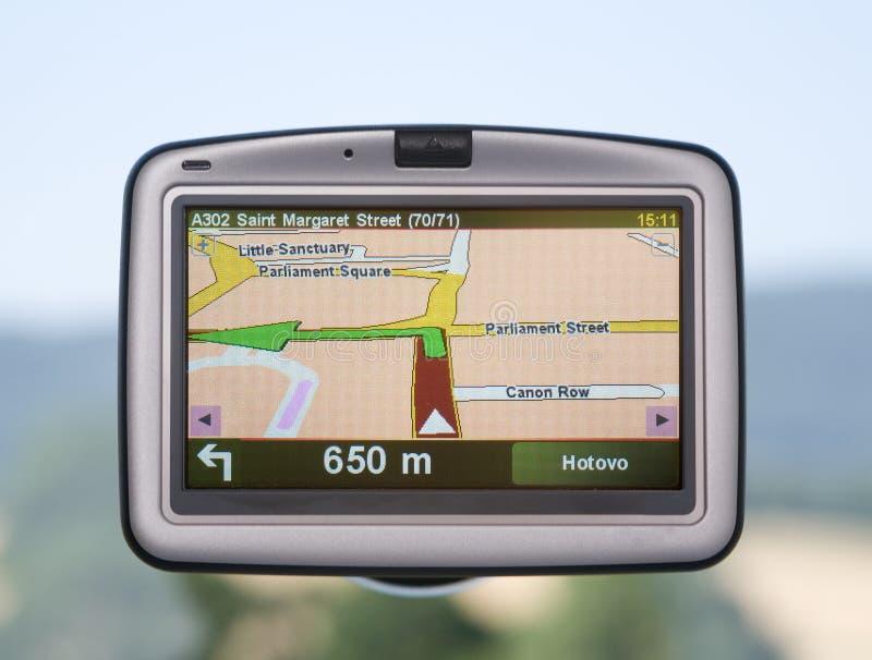 GPS navigator stock foto's