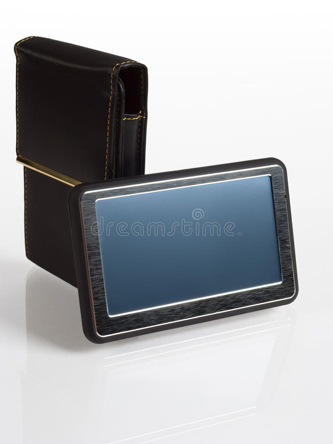 GPS navigator with cover isolated