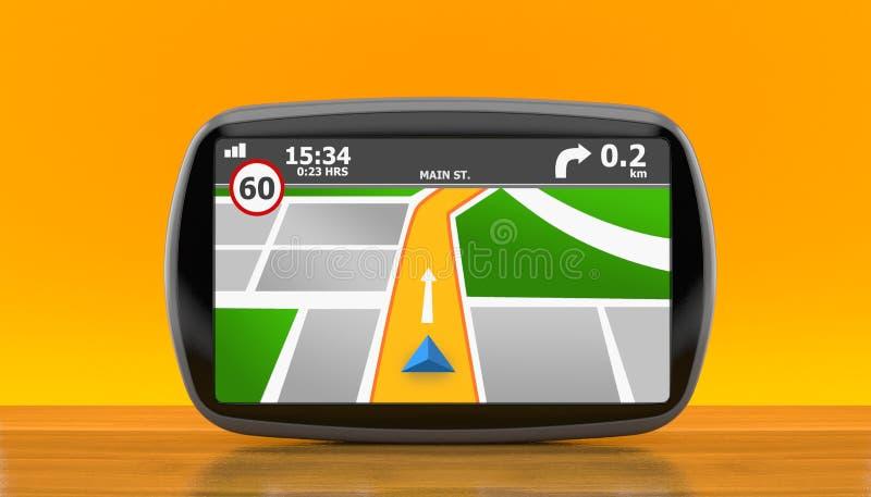 GPS navigering royaltyfri illustrationer