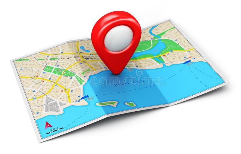 GPS navigeringbegrepp stock illustrationer