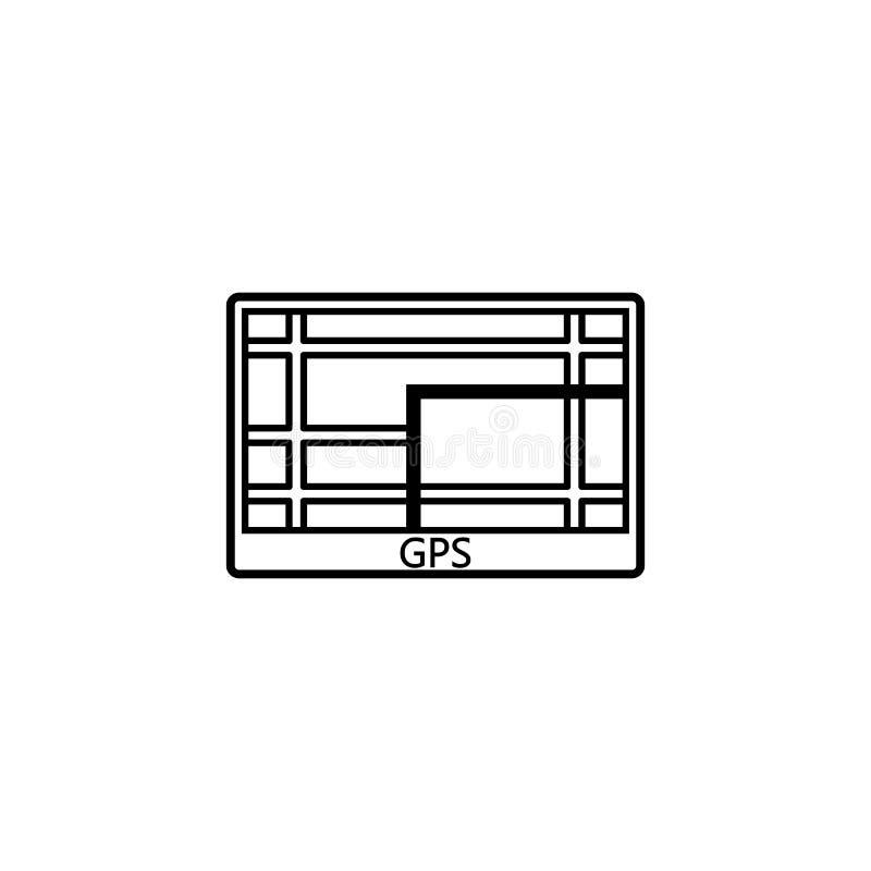 GPS navigeringlinje symbol, bilbeståndsdelnavigatör vektor illustrationer