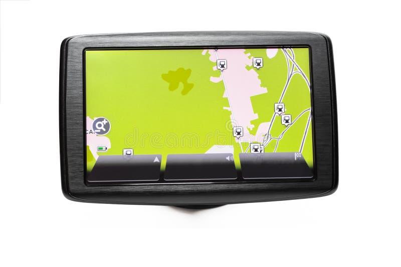 GPS nawigator z drogową mapą obrazy royalty free