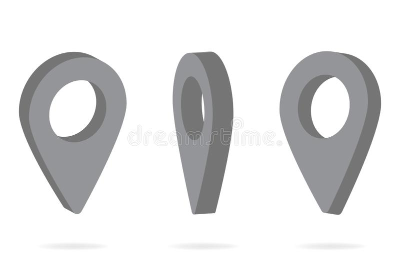 GPS pointer on the map. vector image pointer. GPS pointer on the map. vector image pointer royalty free illustration