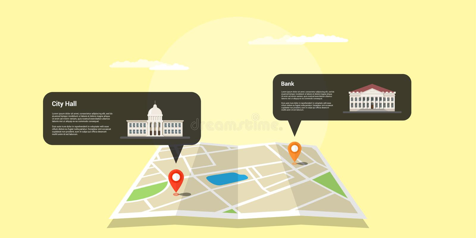 Gps positioning concept royalty free illustration
