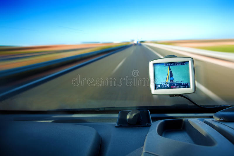 Gps and road stock image