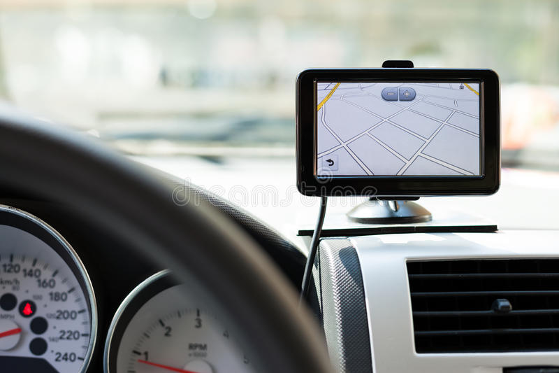 GPS samochodu nawigacja obraz royalty free