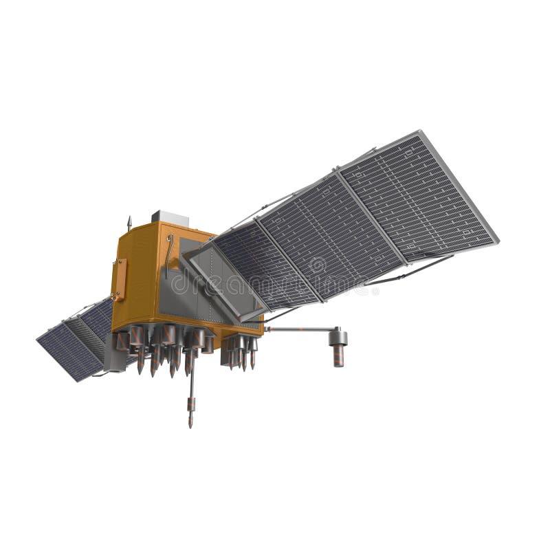 GPS Satellite on White Background royalty free stock image