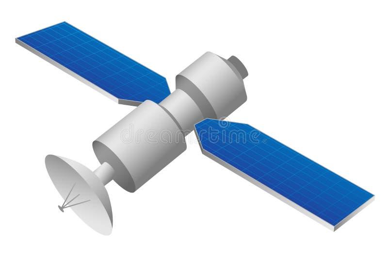 GPS satellitillustration vektor illustrationer