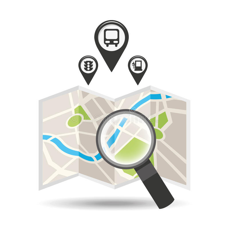 Gps service design. Illustration eps10 graphic stock illustration