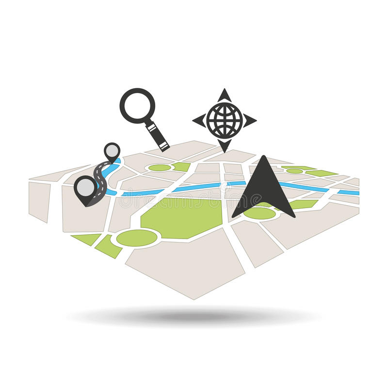 Gps service design. Illustration eps10 graphic vector illustration