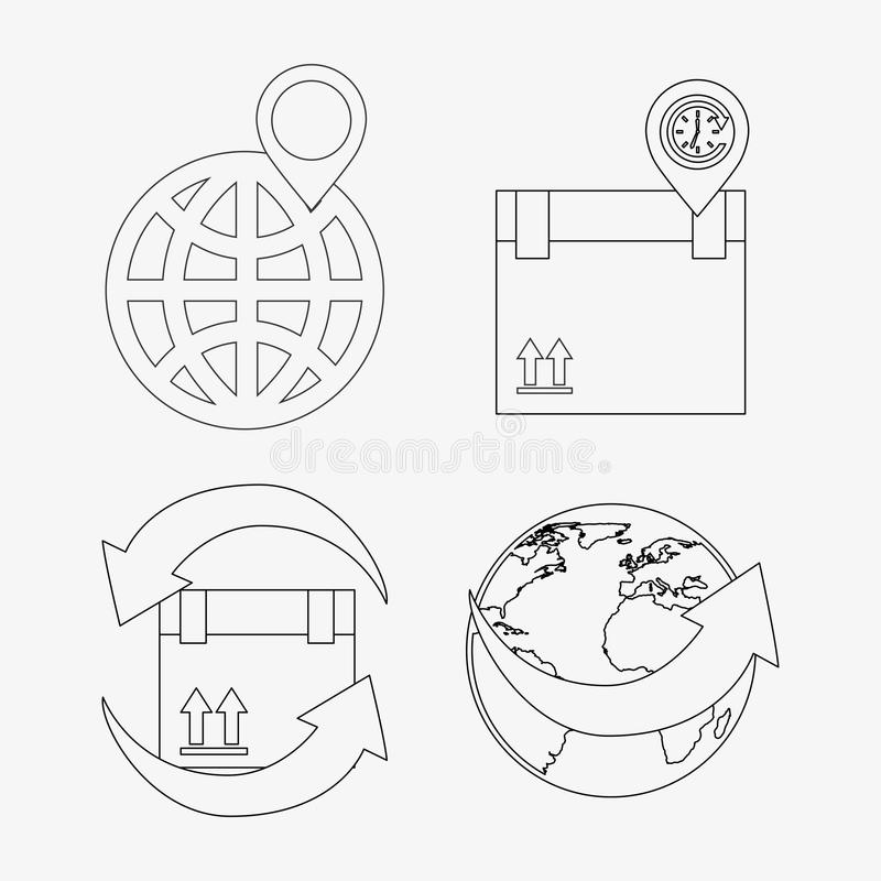 Gps service. Design, vector illustration eps10 graphic stock illustration