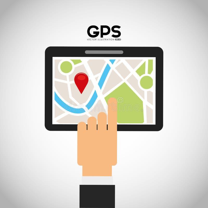 Gps-servicedesign royaltyfri illustrationer
