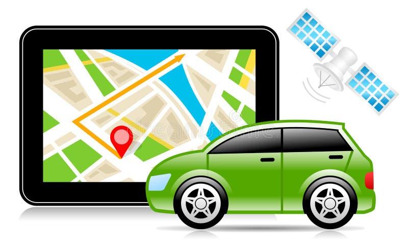 GPS, sistema de navegação mundial, mapa da cidade, navegação ilustração do vetor