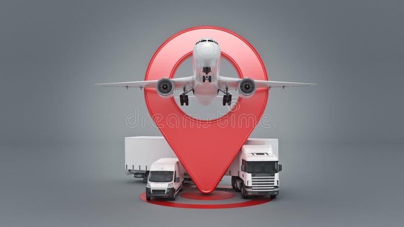 GPS spårning vektor illustrationer