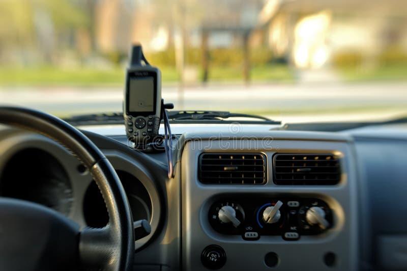 GPS sul cruscotto immagine stock