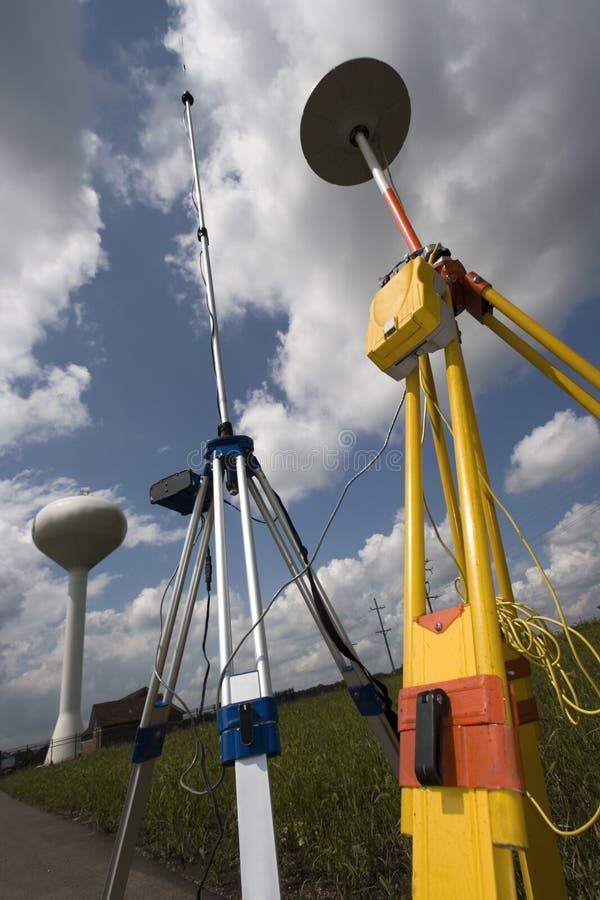GPS Surveying Stock Photo