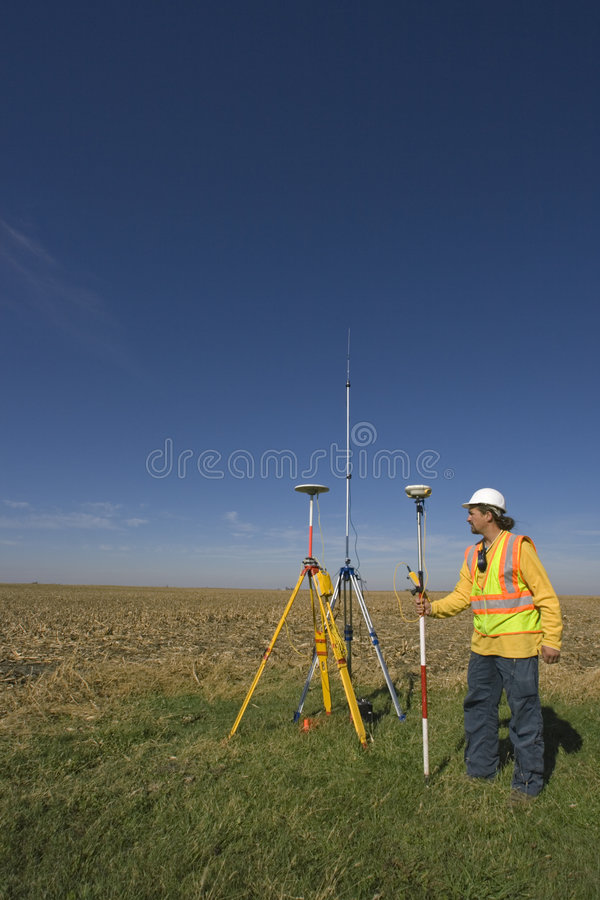 Download GPS Surveying stock photo. Image of technology, construction - 4437892