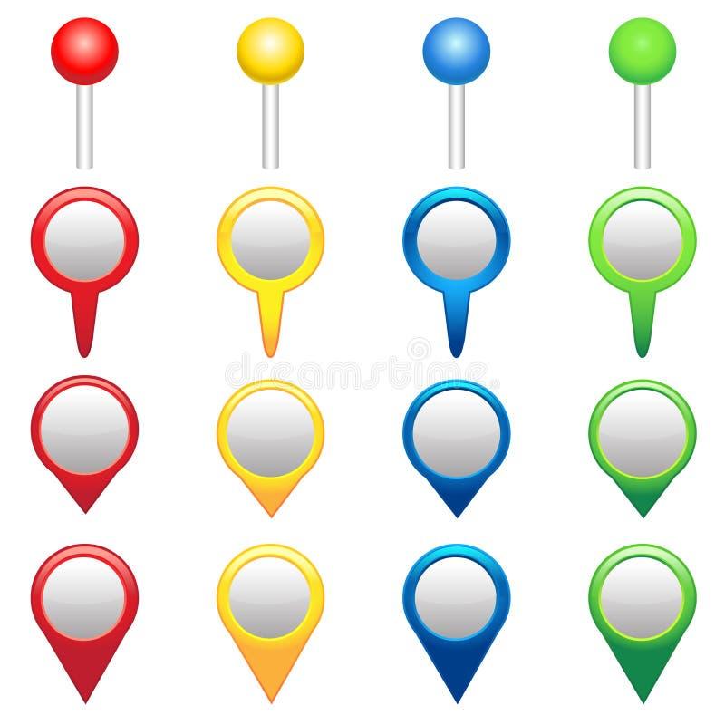 gps-symboler vektor illustrationer