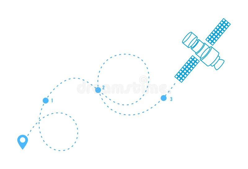 Gps Satellites Stock Illustrations – 262 Gps Satellites ...