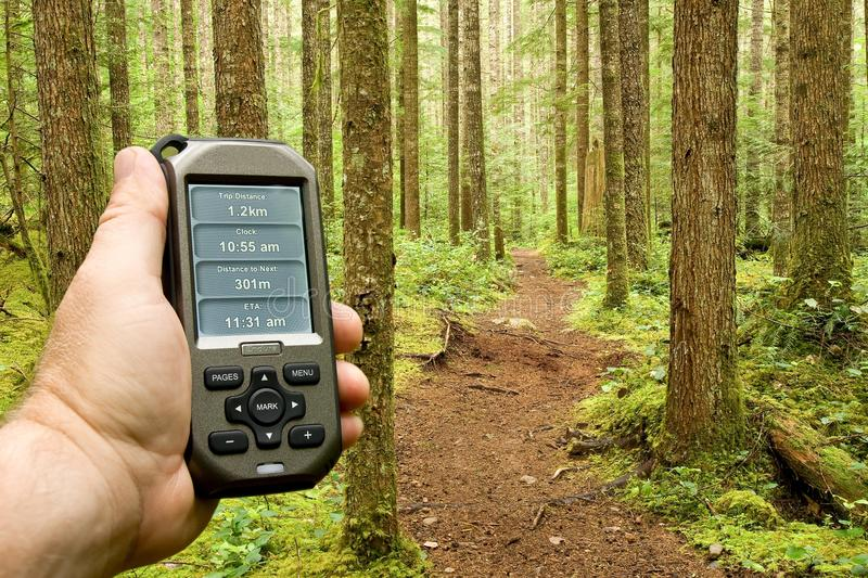 Gps on Trail stock images
