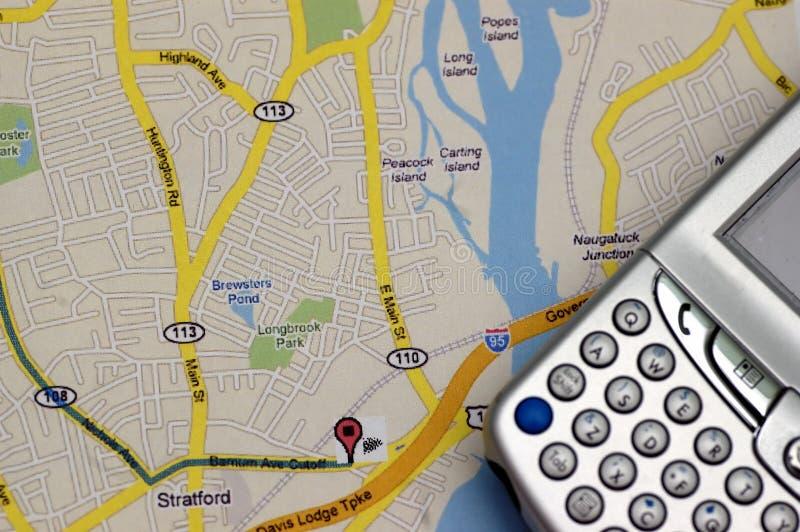 GPS und KARTE lizenzfreie stockfotos
