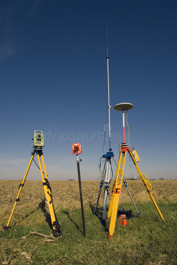 Download GPS Unit, Total Station And Prism Royalty Free Stock Photos - Image: 4903108