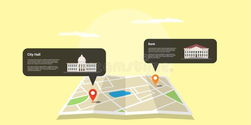 GPS ustawia pojęcie royalty ilustracja