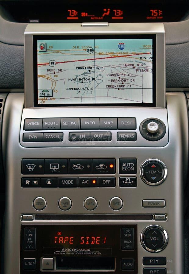 GPS vehicle navigation system royalty free stock image