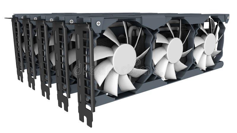 GPU采矿概念 库存图片