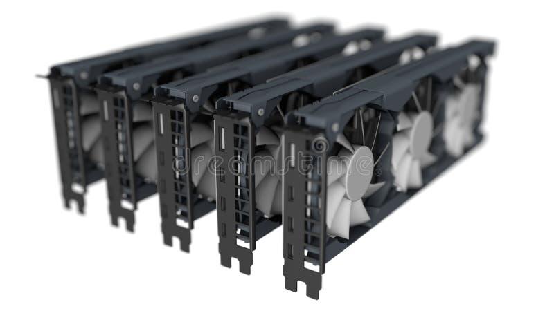 GPU采矿概念 免版税图库摄影